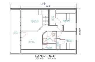 Small House Floor Plans Loft