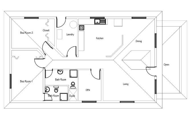 Small House Plan Pdf Cad