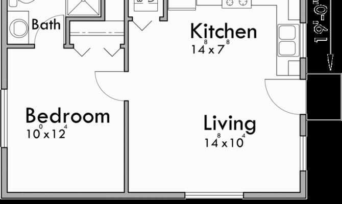 Small House Plans Studio One Bedroom