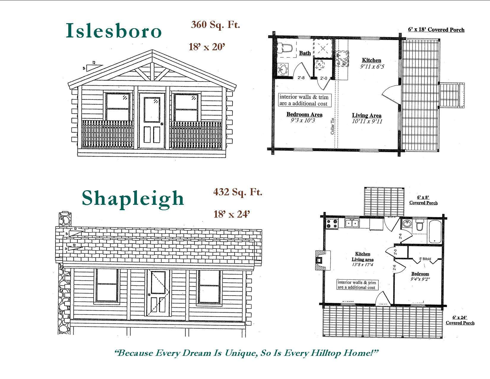 Small Log Cabin Floor Plans Mini Cabins