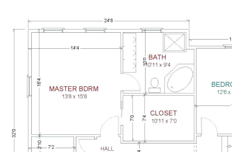 Small Master Bathroom Layout Floor Plans