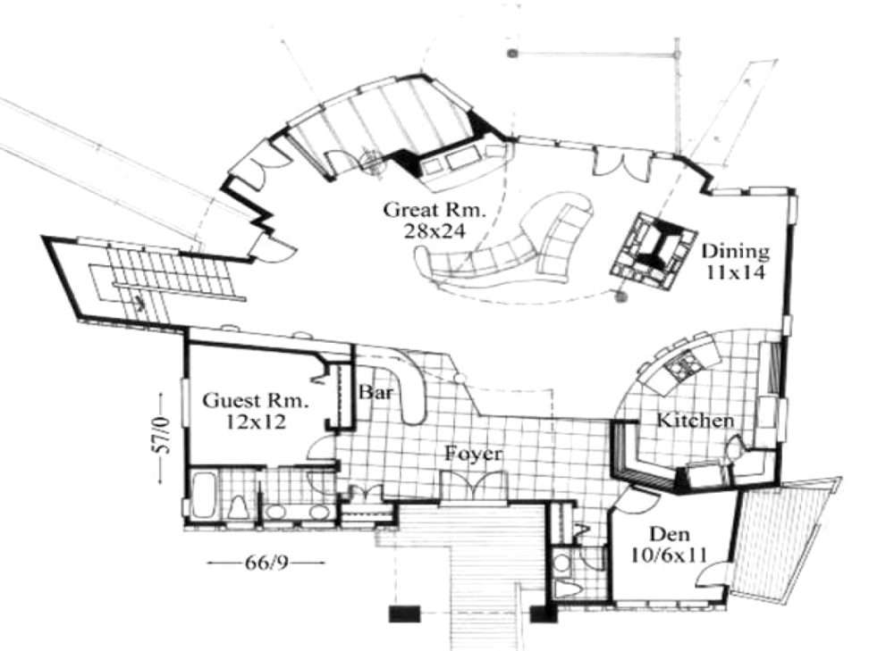 Small Modern House Layout Idea Features Great Room