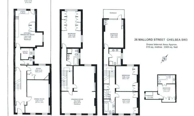 Small Narrow Townhouse Floor Plans Lot
