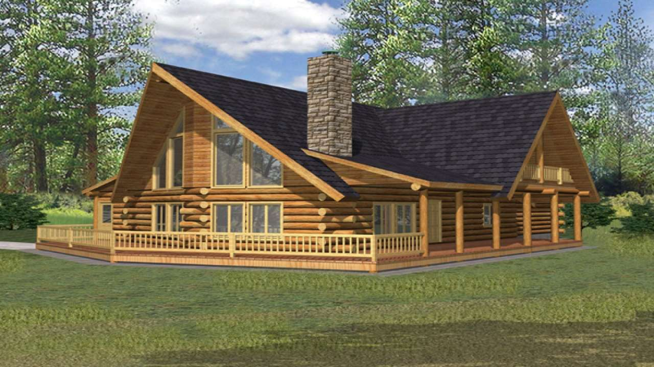 Small Porch Designs Rustic Log Cabin Home Plans