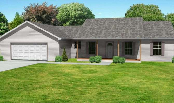 Small Ranch House Plan Floorplan