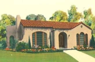 Small Spanish Style Homes Vintage Catalog Artistic
