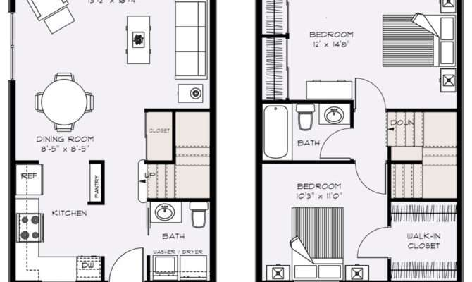 Small Townhouse Floor Plans Homes