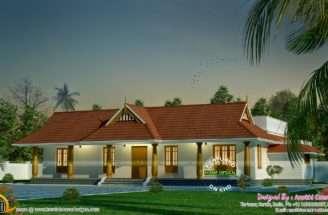 Small Traditional Nallukettu House Kerala Home Design Floor