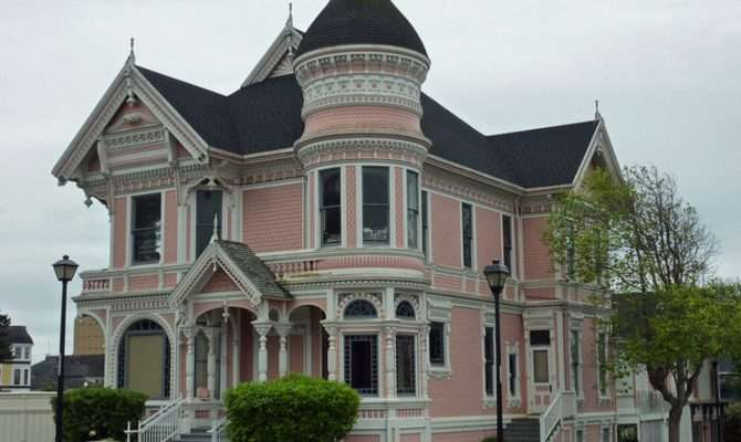 Small Victorian Houses Pink House Big