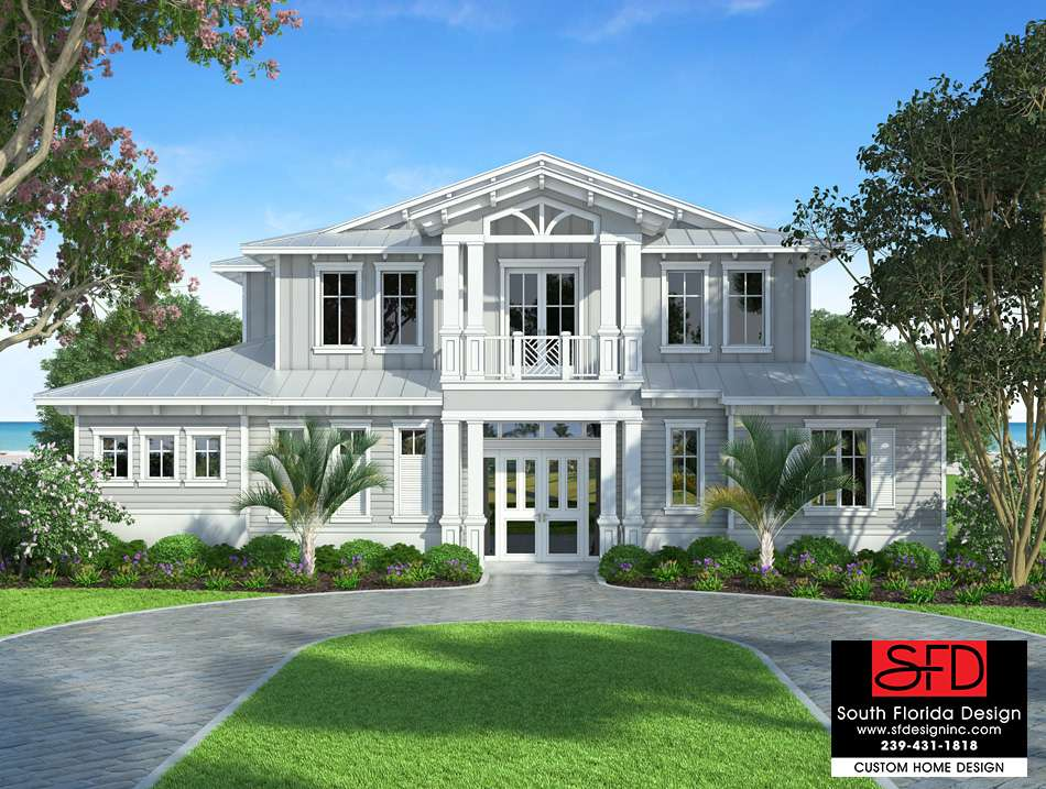 South Florida Designs Waterside Story Coastal House Plan