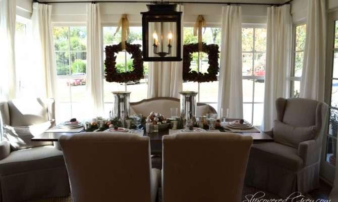 Southern Living Idea House Christmas Slipcovered Grey