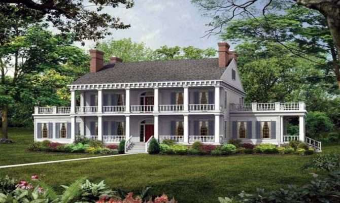 Southern Plantation Style House Plans Antebellum