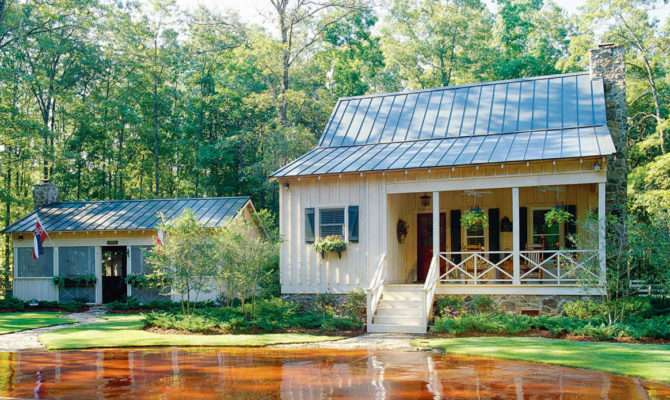 Southern Small Lake House Plans Screened Porch