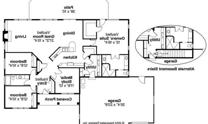 Southwest House Plan Northrup Floor