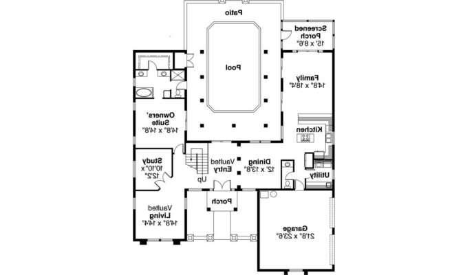 Southwest House Plan Roswell Floor
