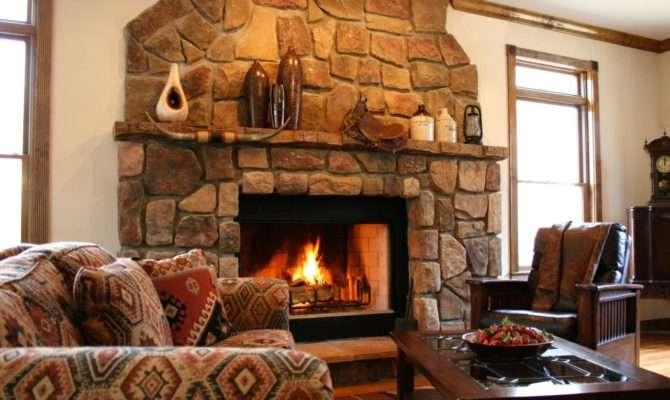 Southwestern Living Room Stone Fireplace Hgtv Design Star