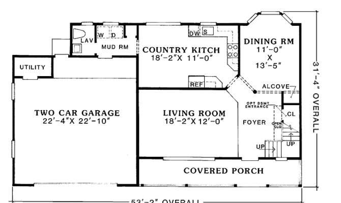 Space Saving Floor Plan