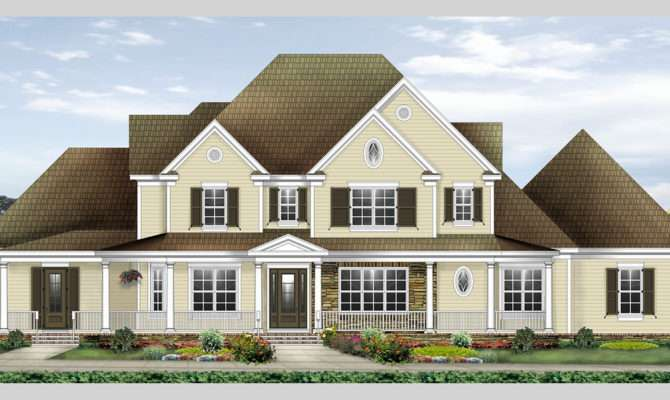 Spacious Farmhouse House Plan Architectural