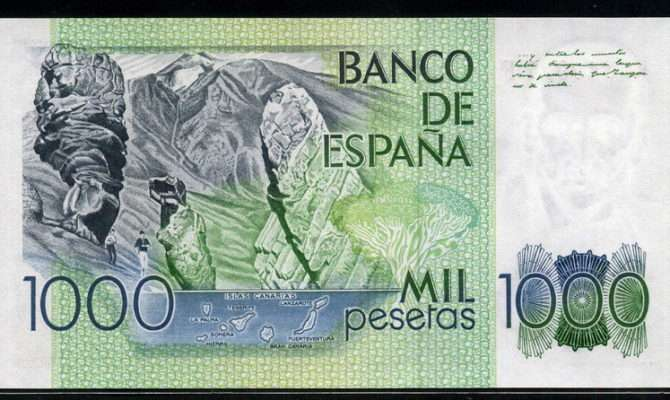 Spain Pesetas Money