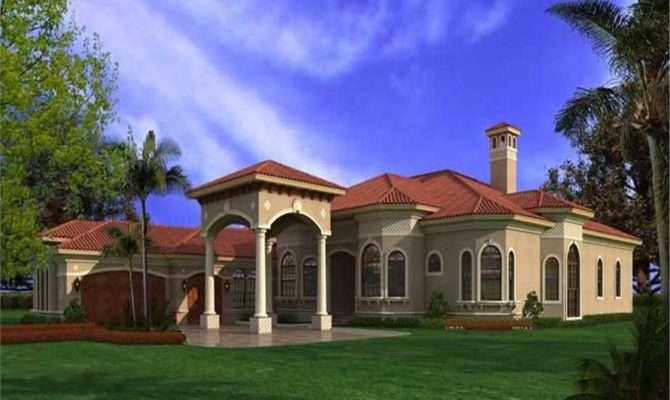 Spanish Mediterranean Home Plan House