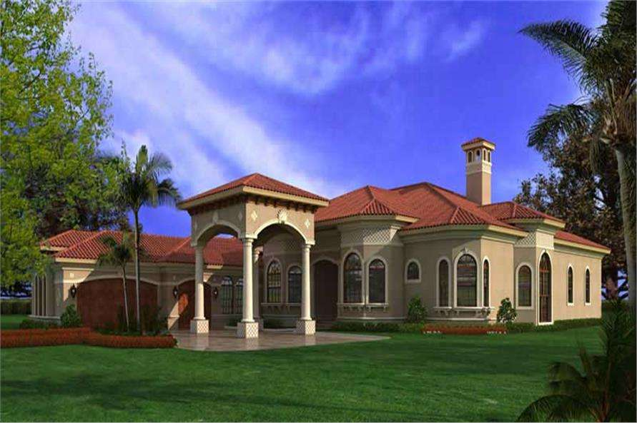 Spanish Mediterranean Home Plan House