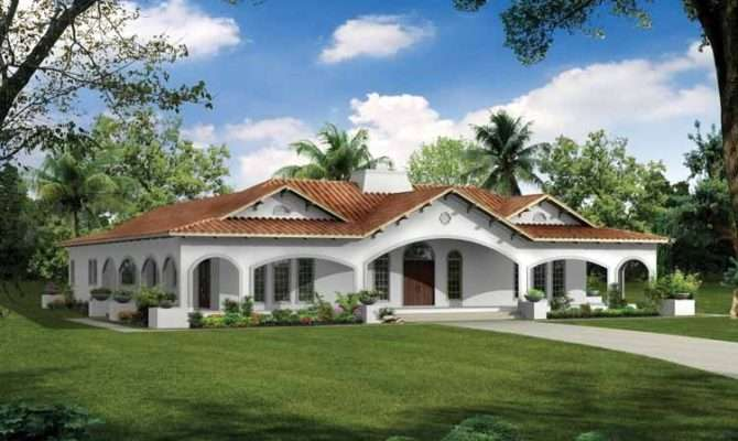Spanish Revival House Plans Feature Heavy Ornamentation