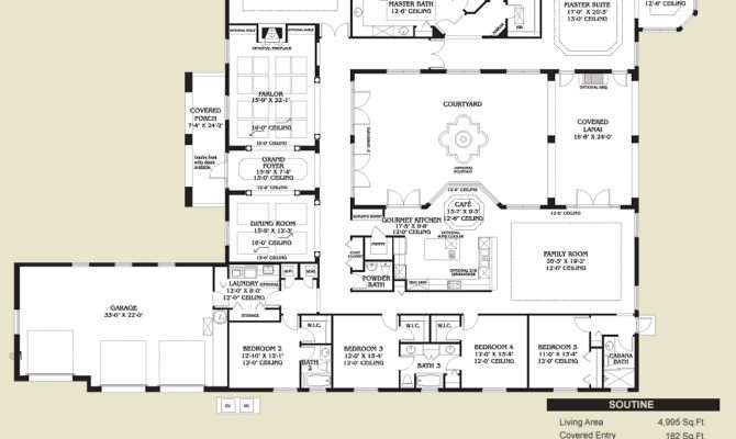 Spanish Style Home Floor Plans Dream Casa Pinterest