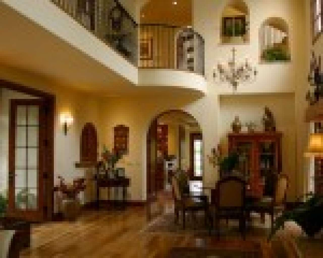 Spanish Style Home Interior Living Room