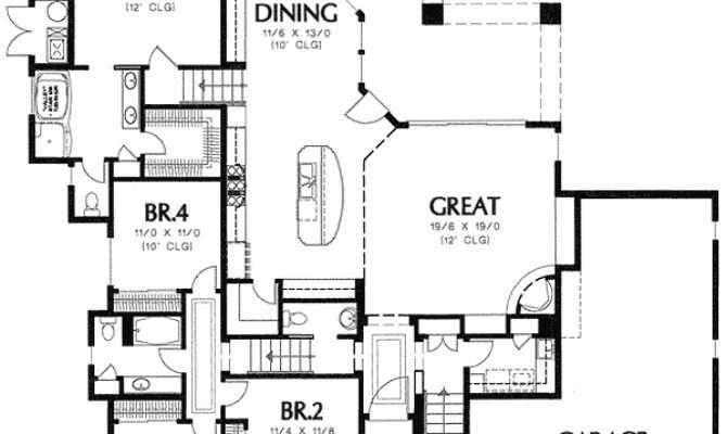 Spanish Styling Side Slope Lot Floor