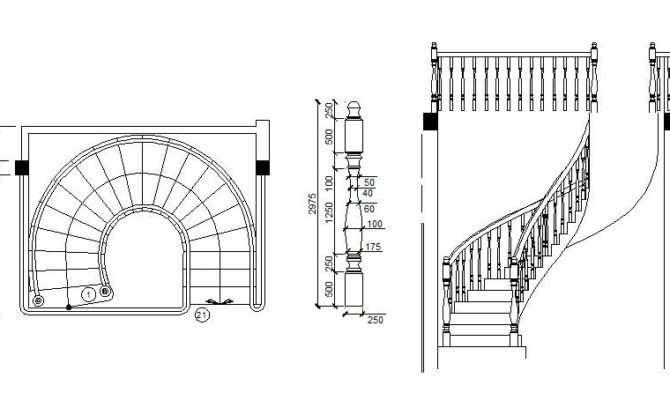 Spiral Staircase Cad Block Cadblocksfree