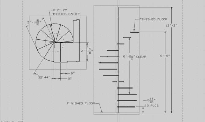 Spiral Staircase Plans Build Wood