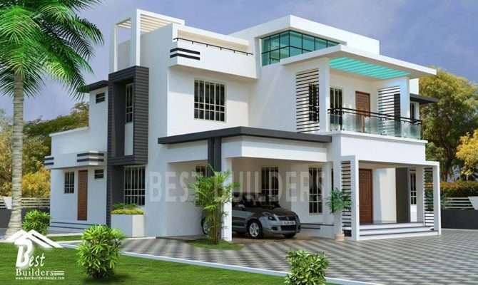 Splendid Contemporary House Designed Best Builders