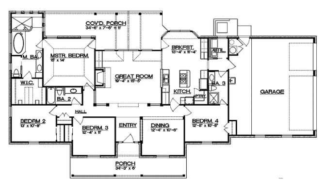 Split Bedroom Floor Plan