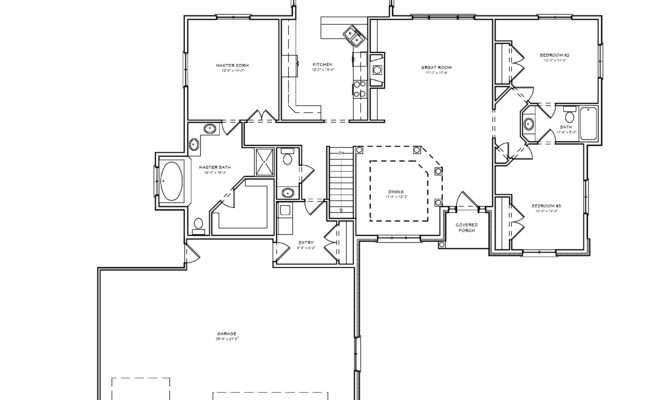 Split Bedroom Ranch Hosue Plan House