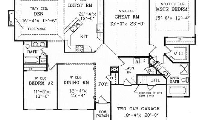 Split Bedroom Ranch Modest Lot