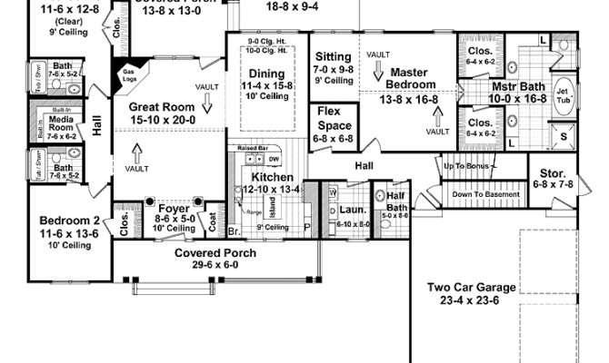Split Bedrooms Open Floor Plan