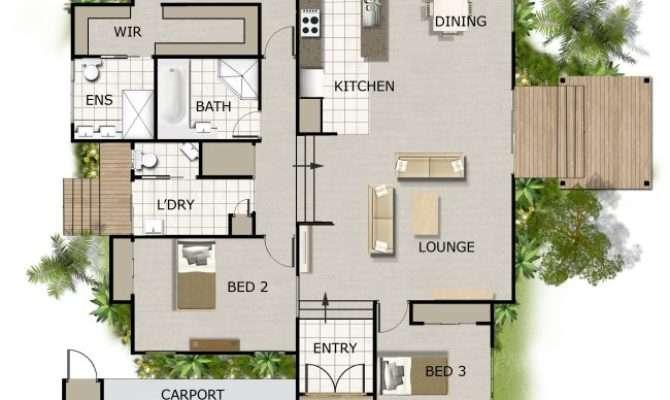 Split Level House Plan Timber Floor Australian Houses