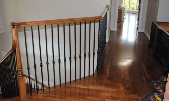 Split Level Stairway Has Been Replaced Spiral Staircase