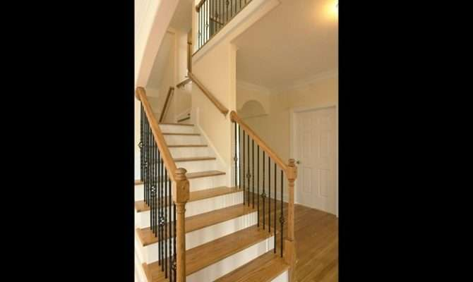 Split Staircase Design Stairs Lead Foyer