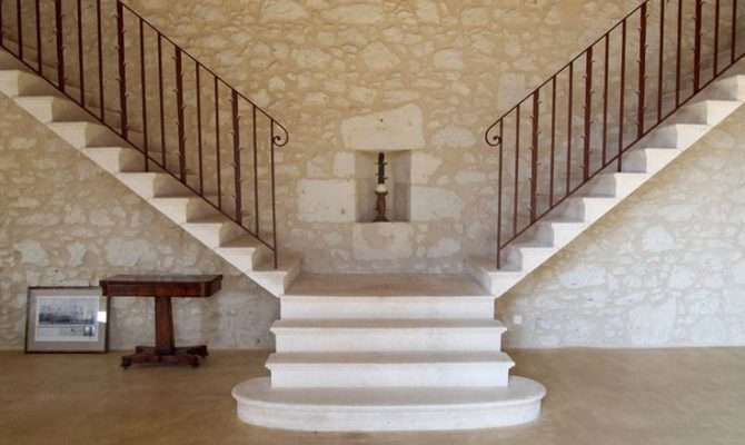 Split Staircase French Manor House Close Condom France