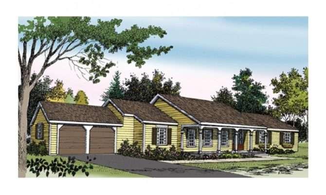 Sprawling Ranch House Hwbdo Country Builderhouseplans