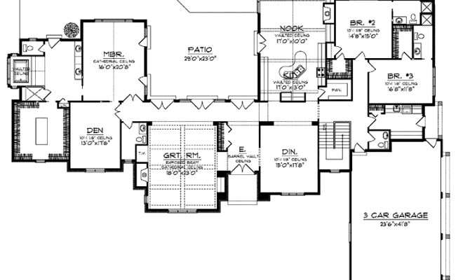 Sprawling Ranch Hwbdo House Plan Builderhouseplans