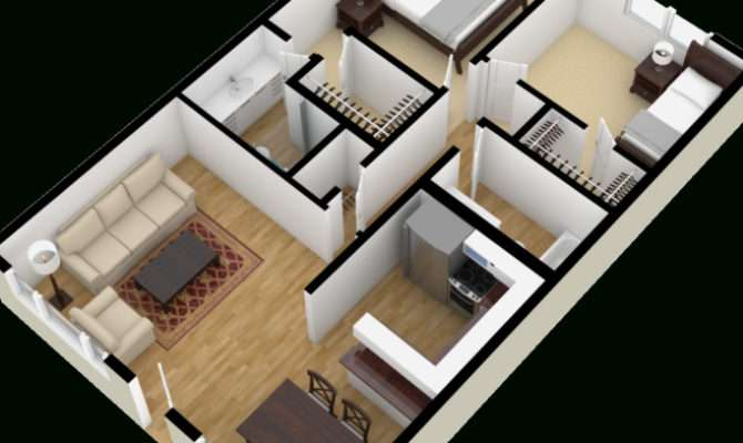Sqft Bedroom Apartment Ideas House Design Plans