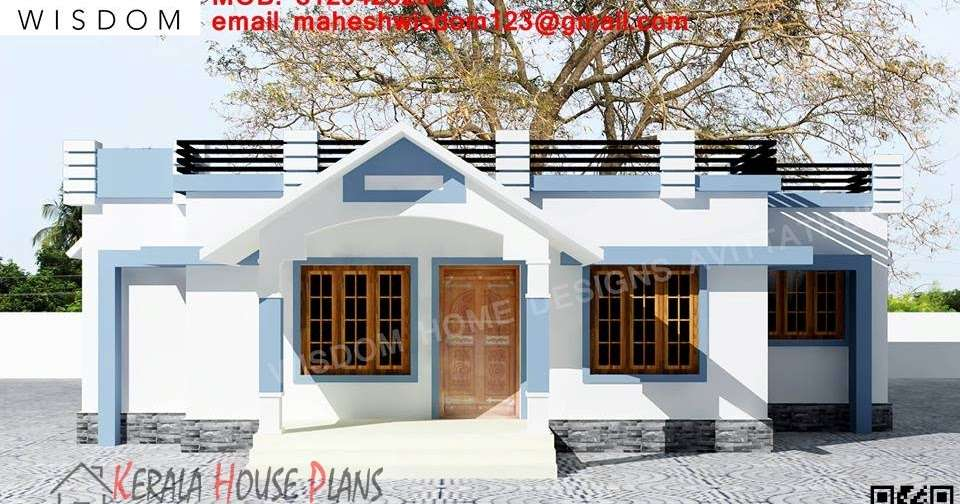 Sqft Small Budget Kerala House Design Elevation
