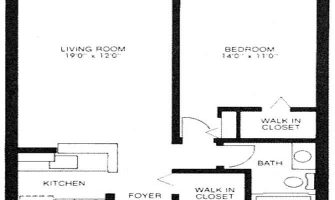 Square Feet Apartment Floor Plan