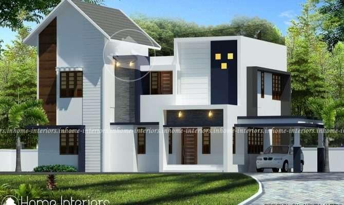 Square Feet Bhk Sloped Contemporary Home Design