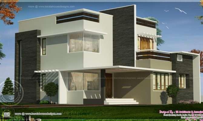 Square Feet Box Type Exterior Home Kerala Design Floor