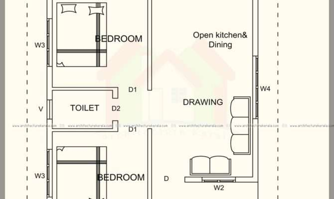 Square Feet House Plan Elevation Architecture