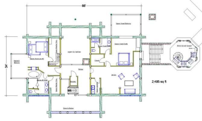 Square Feet House Plans Logdesign Bearcreek
