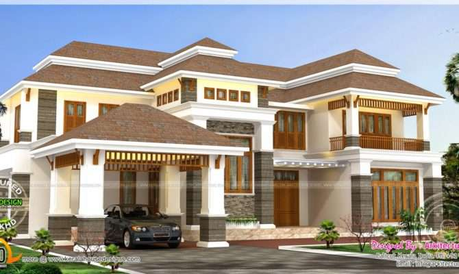 Square Feet Luxury Home Indian House Plans